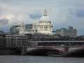 A view of St Paul's Cathedral from the venue