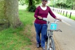 Hired Barclays  Bike in Hyde Park, London