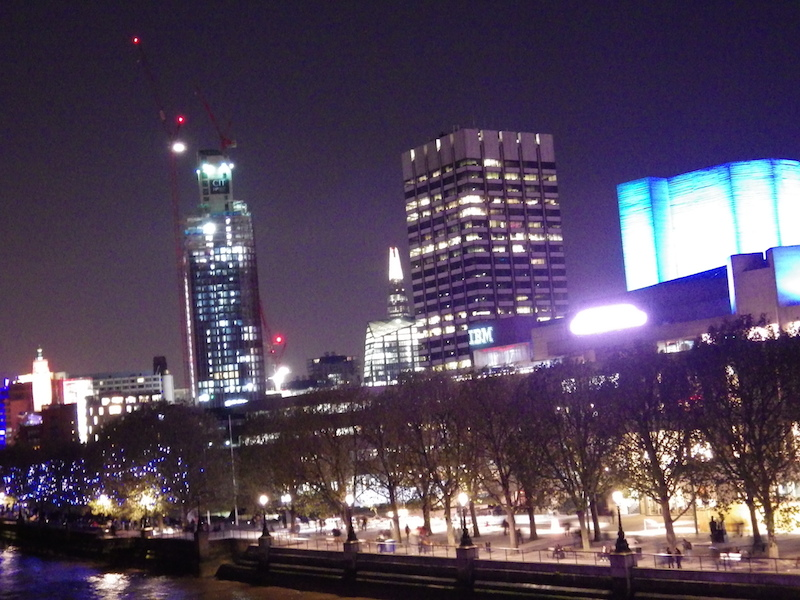 A glimpse of the Shard at night