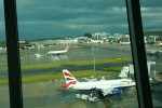 Outside Gatwick airport