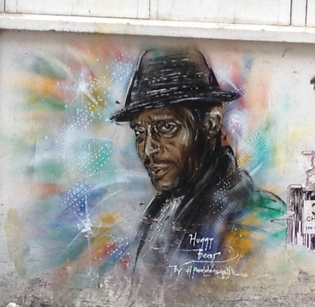 Street art Mural of Antonio Fratas (Huggy Bear) of Starsky and Hutch