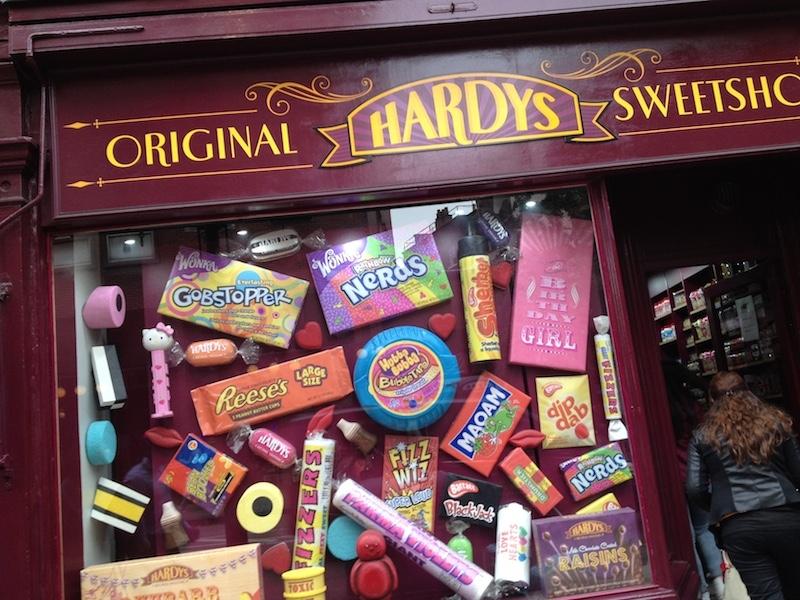 Hardy's Original Sweet shop in Charing Cross road