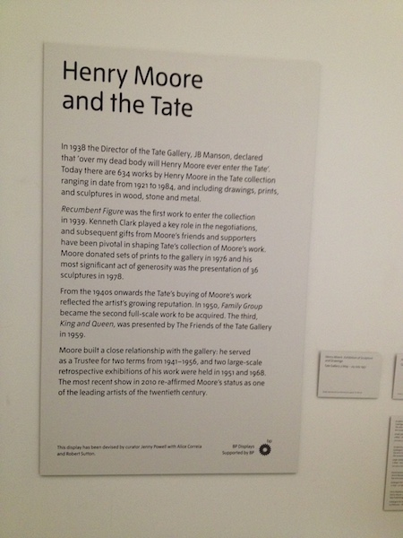 Henry Moore and the Tate