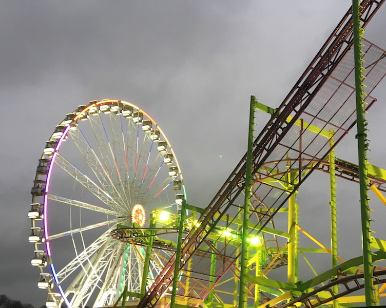 4 Reasons for visiting a fairground this Christmas.Winter Wonderland 2015 Ferris wheel