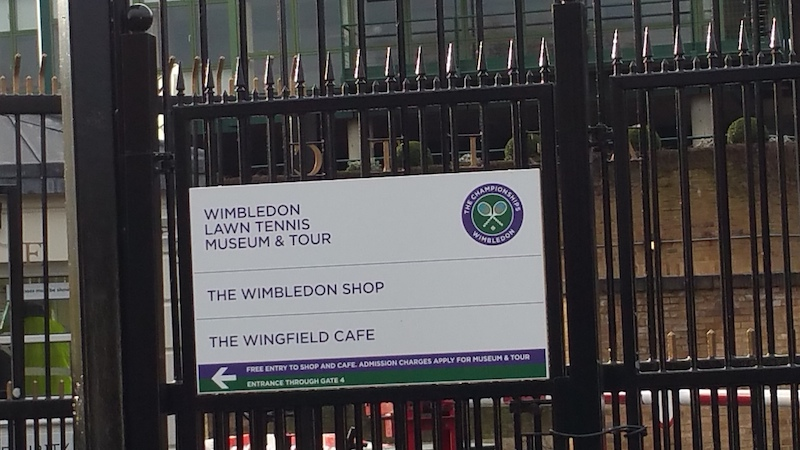 A Grand Tour Of The Popular Wimbledon Museum Entrance to the grounds.