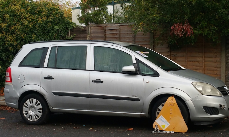 A Clamped vehicle