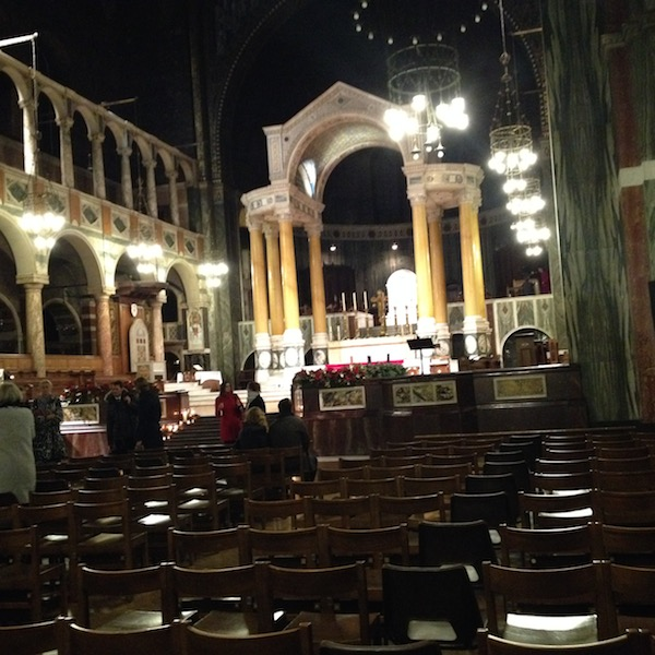 Inside Westminster Cathedral at Christmas