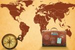 A suitcase on the globe