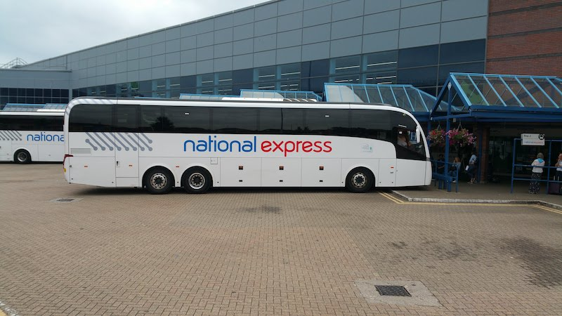 Our National Express coach in Bournemouth station