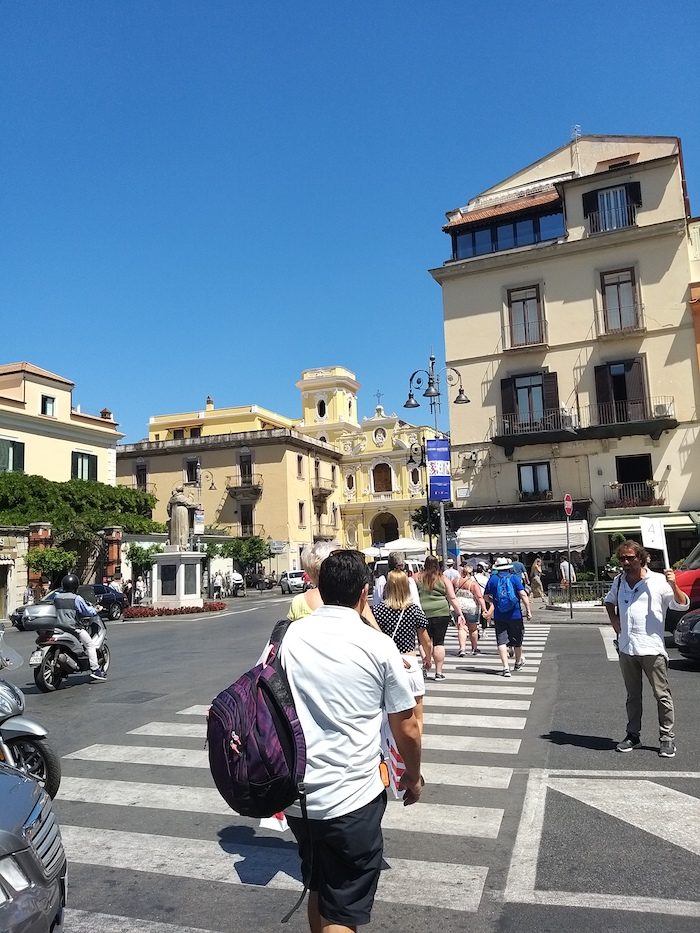 Holiday makers in Sorrento