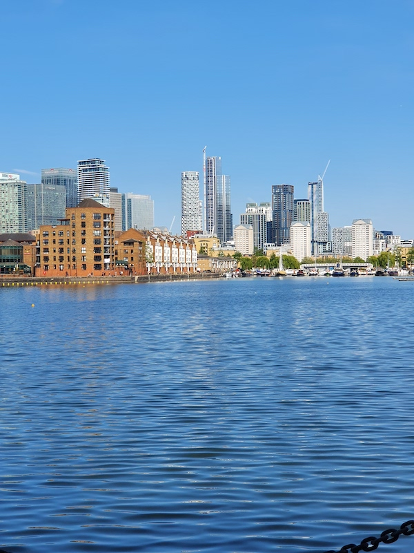 A view of the docklands from Greenland Quay